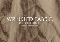 Free Wrinkled Fabric Photoshop Brushes