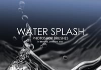 Free Water Splash Photoshop Brushes