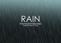 Free Rain Photoshop Brushes