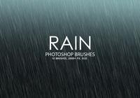 Free Rain Photoshop Brushes