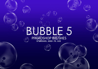 Free Bubble Pinceles para Photoshop 5