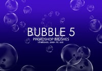 Gratis Bubble Photoshop Borstar 5