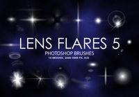 Free Lens Flares Photoshop Brushes 5