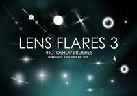 Gratis Lens Flares Photoshop Borstels 3