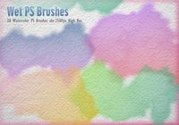 20 masque d'aquarelle brosses PS abr.