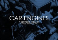 Car Engines Photoshop Brushes