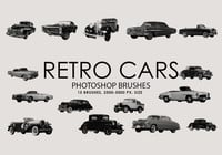 Gratis Retro Cars Photoshop borstar