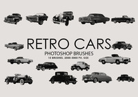 Free Retro Cars Photoshop Brushes