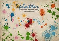 20 Splatter PS Brushes abr.vol.4