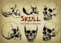"20 Skull PS Brushes abr ""Engraved"" vol.6"