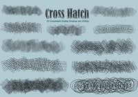 20 scintillement de crosshatch brosses ps abr