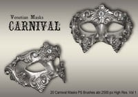 20 Carnival Masks PS Brushes abr.vol.1