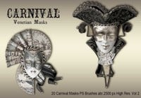 20 Máscaras de carnaval PS Brushes abr.vol.2