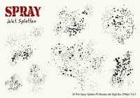 20 Spray humide Spatter PS Brushes Vol.5