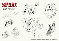20 Wet Spray Splatter PS Pinceles Vol. 5
