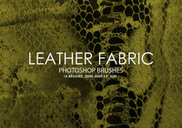 Free Leather Fabric Photoshop Brushes