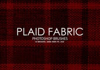 Free Plaid Fabric Photoshop Brushes
