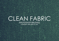 Free Clean Fabric Photoshop Brushes 2