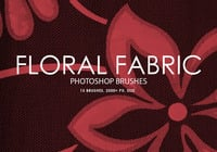 Gratis Floral Fabric Photoshop Borstels