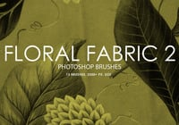 Free Floral Fabric Photoshop Brushes 2