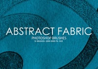 Free Abstract Fabric Photoshop Brushes