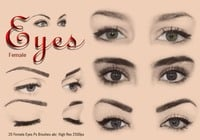 20 Female Eyes Ps Brushes abr Vol 4