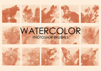 Free Watercolor Wash Pinceles para Photoshop 6