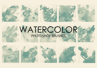 Gratis Waterverf Was Photoshop Borstels 5