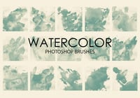 Free Watercolor Wash Photoshop Bürsten 5
