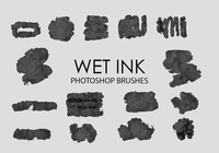 Free Wet Ink Photoshop Brushes 4