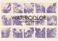 Free Watercolor Wash Pinceles para Photoshop 4