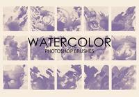 Gratis vattenfärg tvätt Photoshop borstar 4
