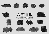 Free Wet Ink Photoshop Brushes 2