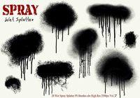 20 Ink Drip Paint Spray Splatter PS Brushes Vol.7