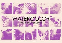 Free Watercolor Wash Pinceles para Photoshop 2