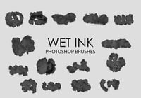 Free Wet Ink Photoshop Brushes 5