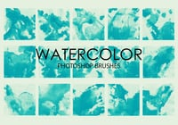 Free Watercolor Wash Pinceles para Photoshop