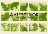 Free Watercolor Wash Pinceles para Photoshop 3