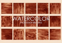 Gratis Watercolor Photoshop Borstels