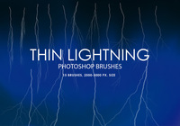 Free Thin Lightning Pinceles para Photoshop