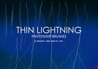 Gratis Thin Lightning Photoshop Borstels