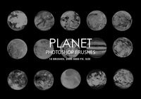 Free Abstract Planet Photoshop Brushes