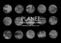 Gratis abstrakta Planet Photoshop borstar