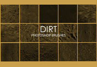 Free Dirt Photoshop Brushes