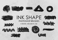 Free Ink Shape Photoshop Brushes