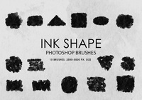 Free Ink Shapes Photoshop Brushes