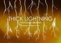 Thick Lightning Photoshop Brushes