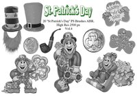 "20 ""St. Patricks Day"" PS Bürsten abr. Vol.4"