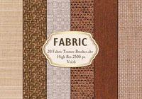 20 Stoff Textur Bürsten.abr Vol.6