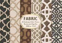 20 Arabesque Fabric Texture Brushes.abr Vol.5
